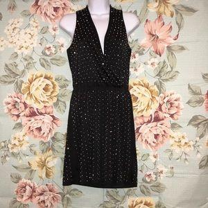 Bebe Black Beaded Dress
